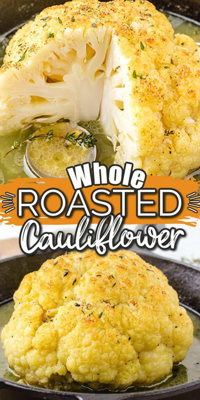 Whole Roasted Cauliflower Pinterest