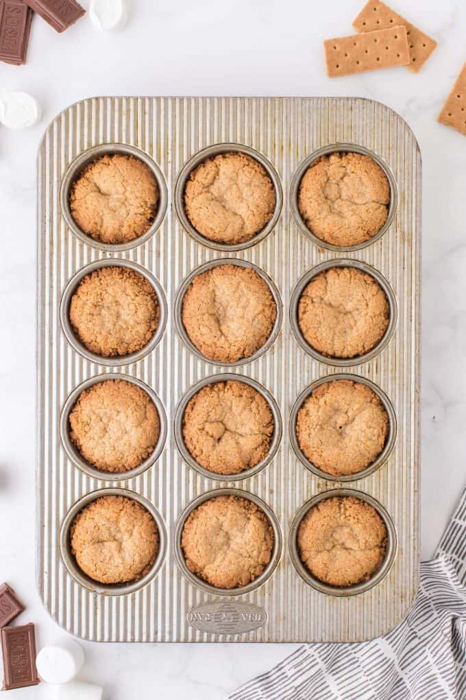 muffin in a tin after baking
