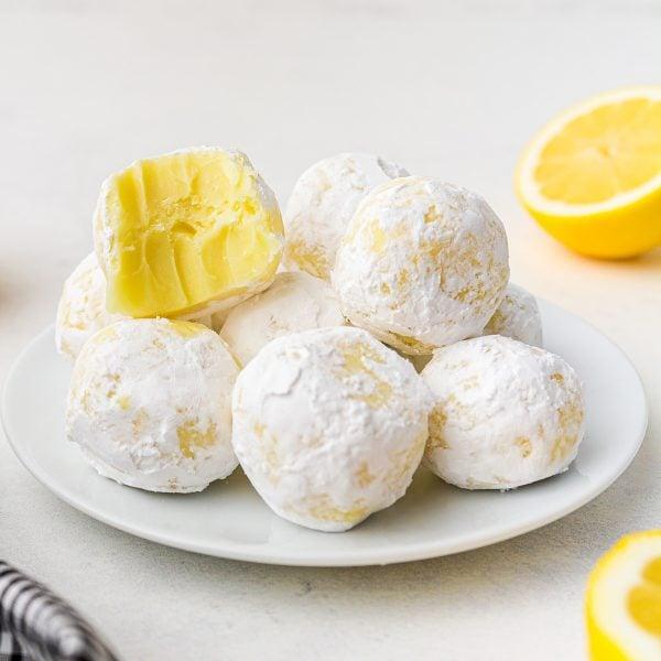 white chocolate lemon truffles featured image