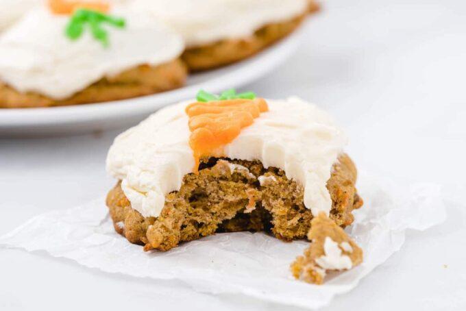 bitten carrot cake cookies