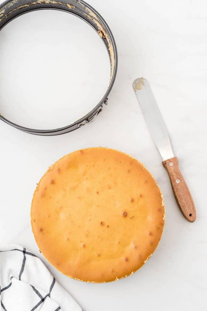 remove cheesecake from the pan