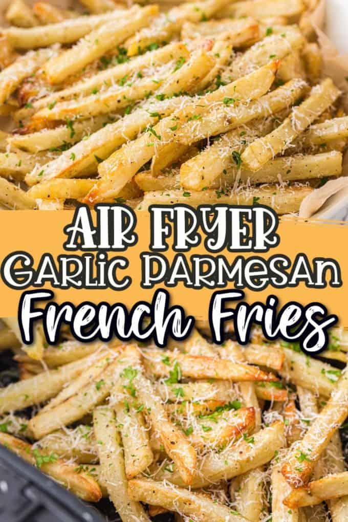 Air Fryer garlic parmesan fries Pinterest