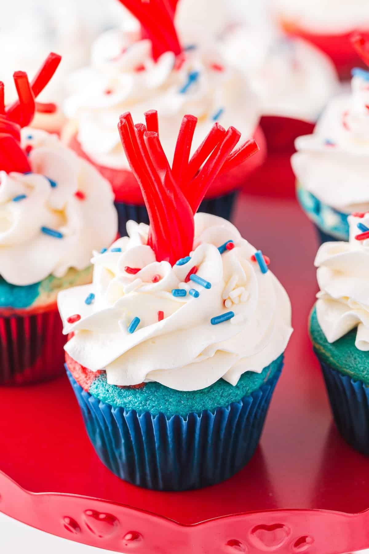 firecracker cupcakes hero image