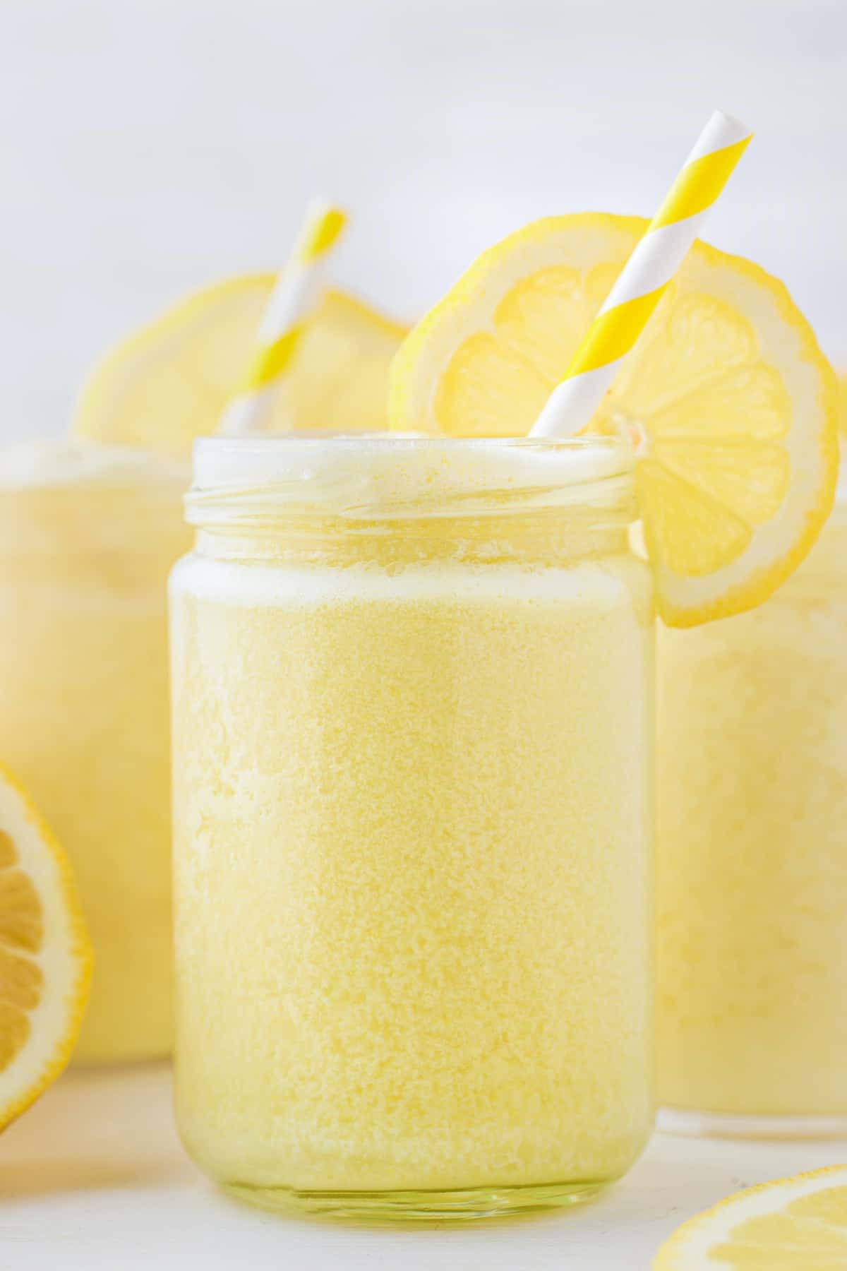 frozen lemonade in a glass