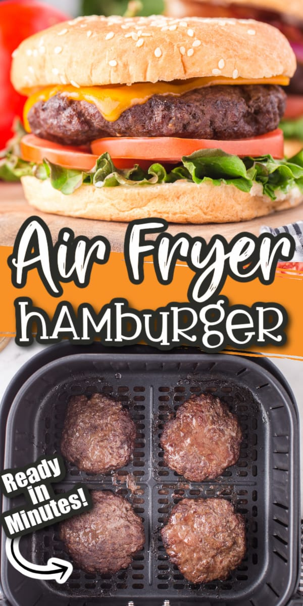 air fryer hamburger Pinterest