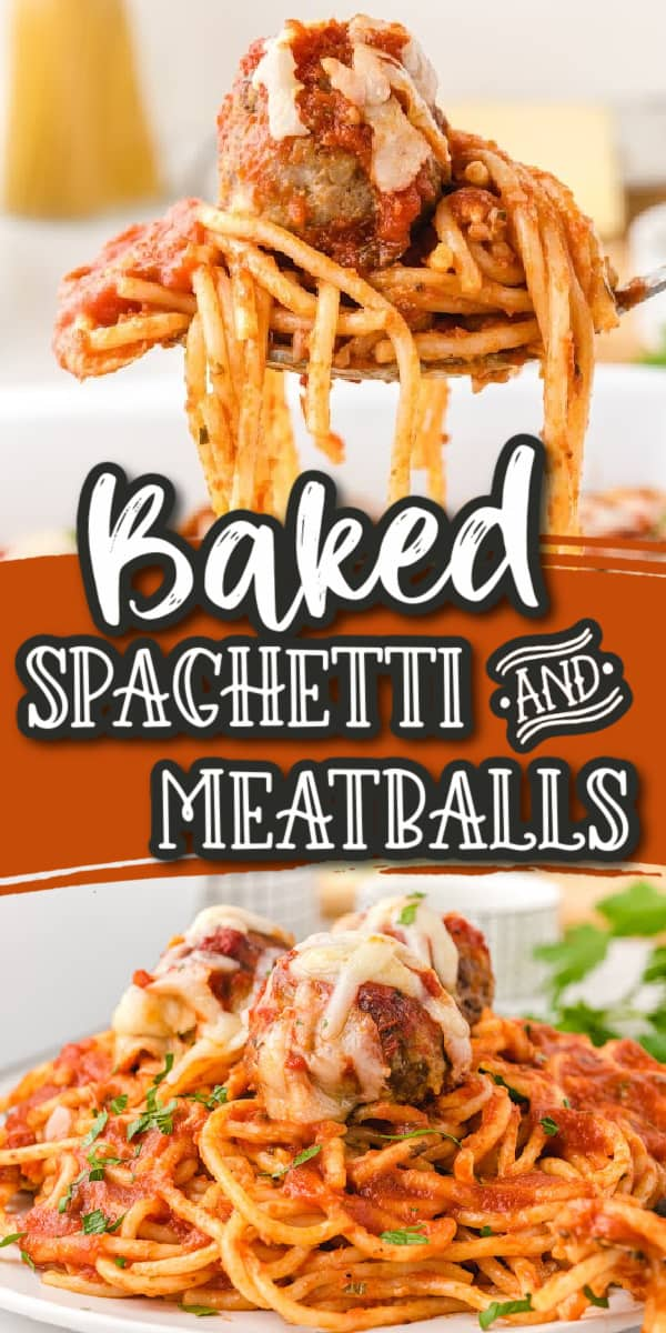 baked spaghetti and meatballs pins