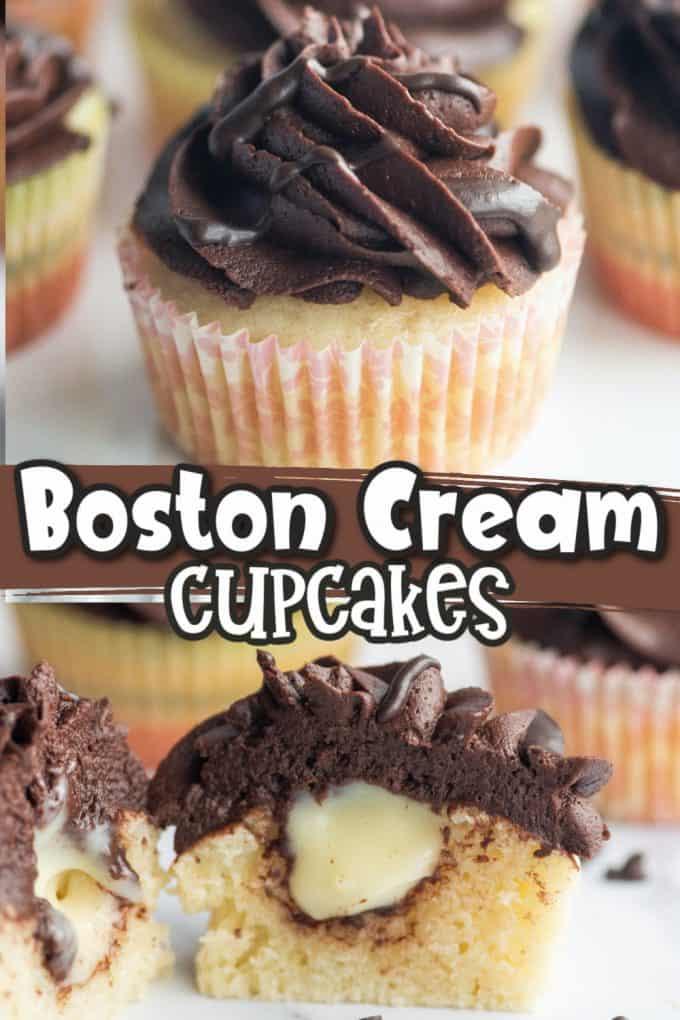 boston cream cupcakes Pinterest
