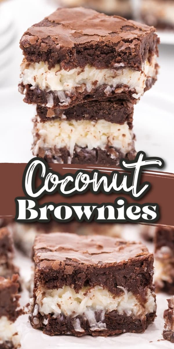 Coconut Brownies pin