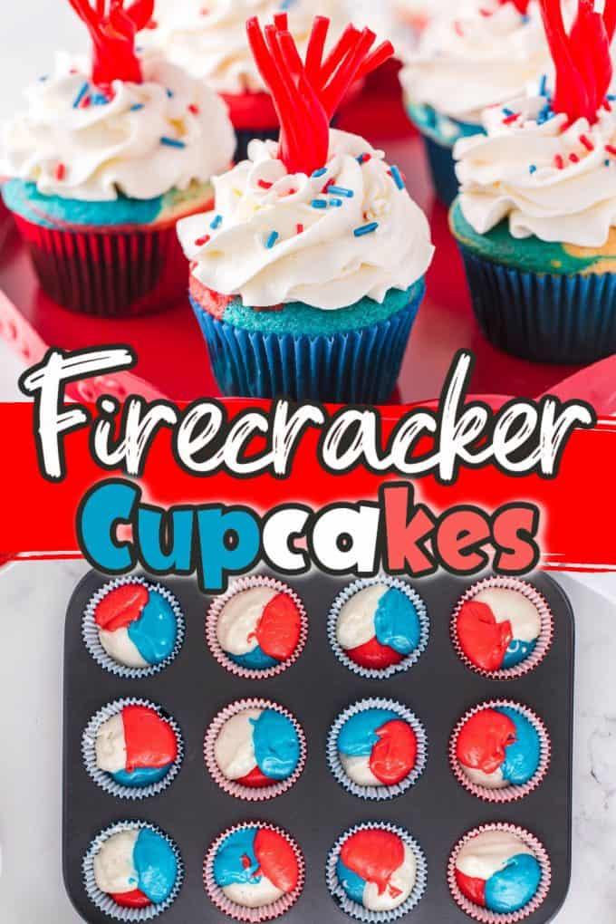 firecracker cupcakes Pinterest