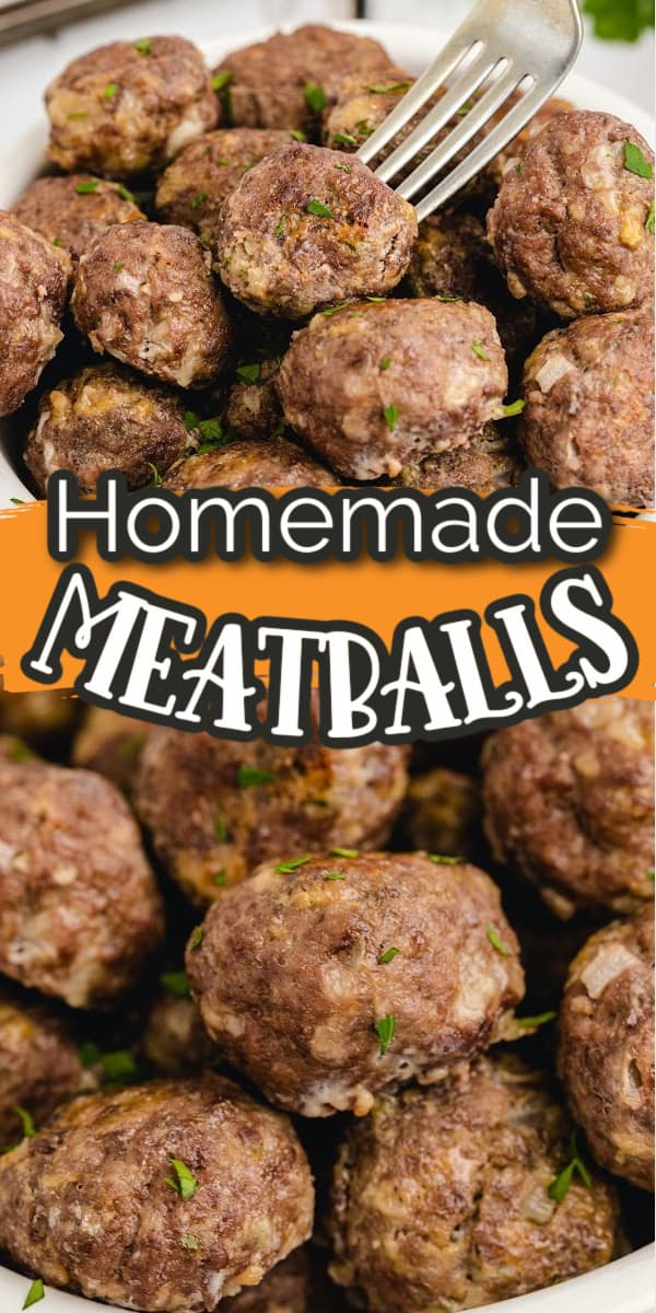 Homemade Meatballs Pinterest