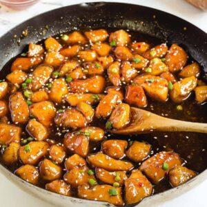 honey garlic chicken featured image