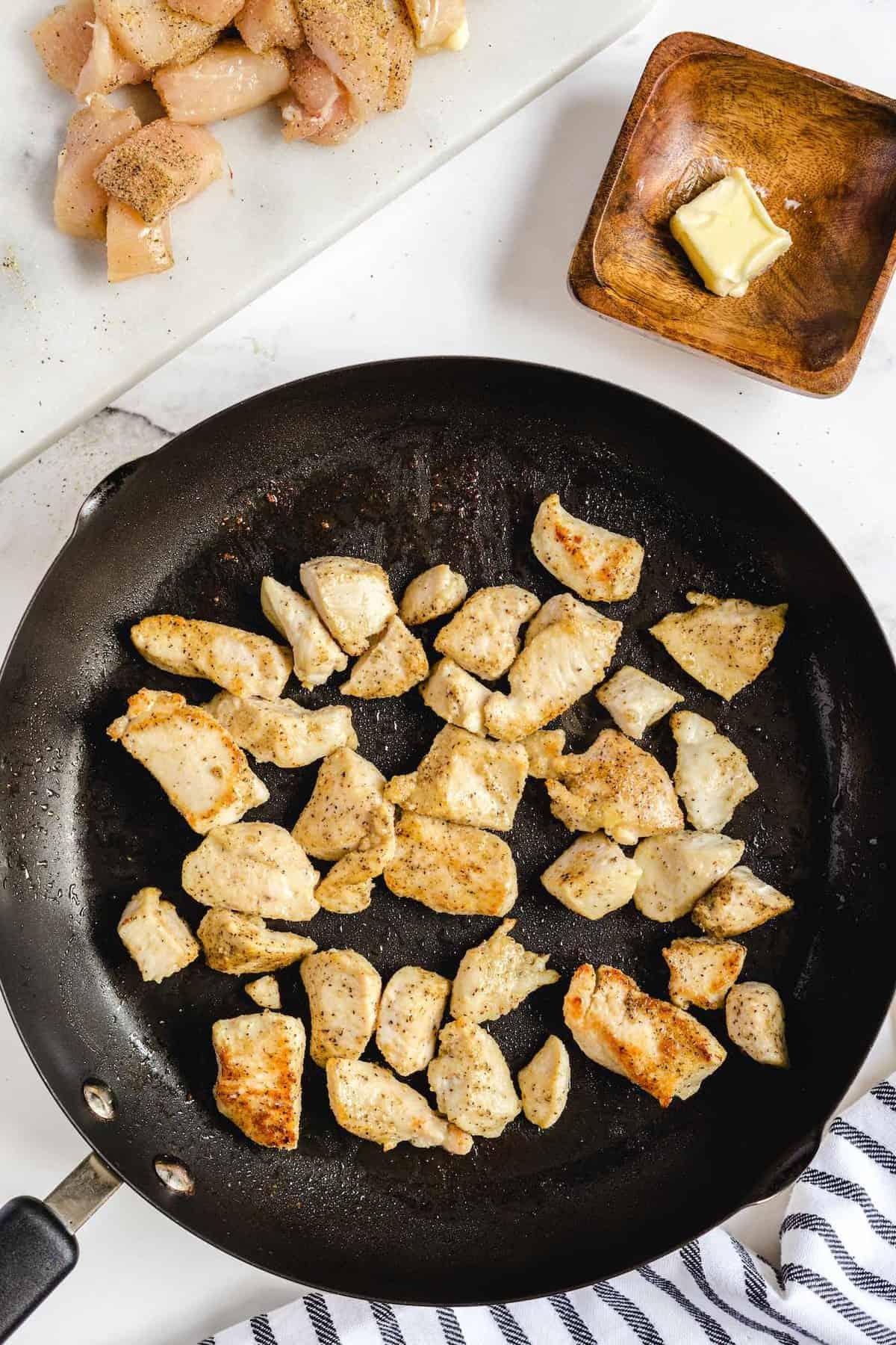 cook chicken on top skillet