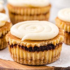 mini cheesecake cinnamon rolls featured image