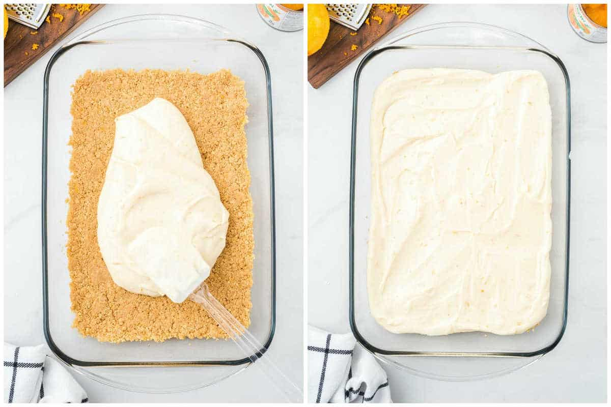 spread this mixture on top of the cracker crust