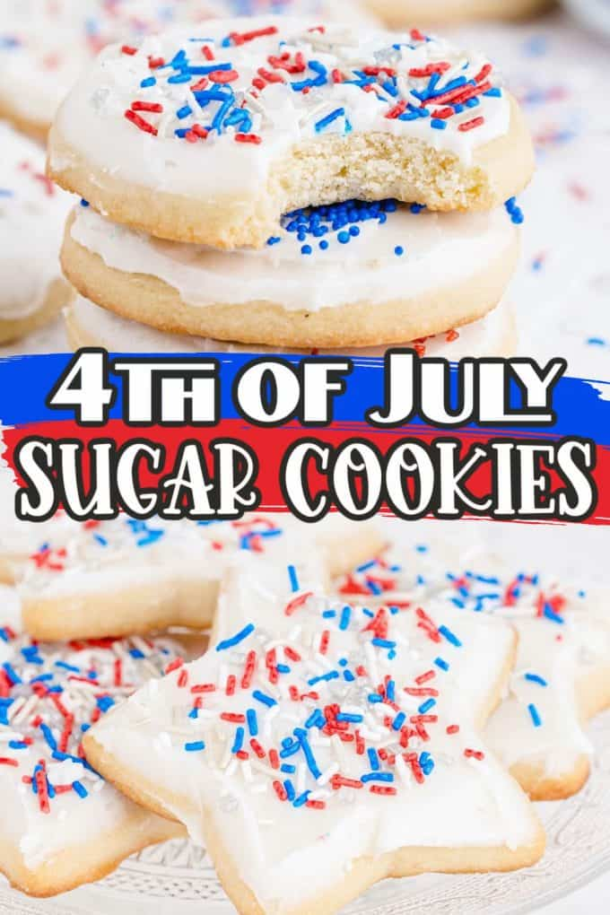 4th of july sugar cookies Pinterest