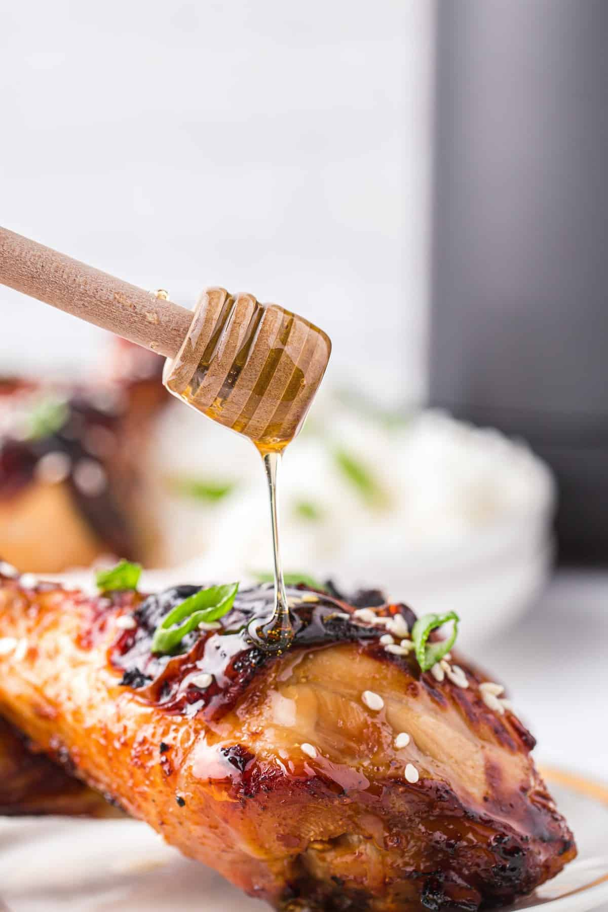honey soy chicken drizzle with honey