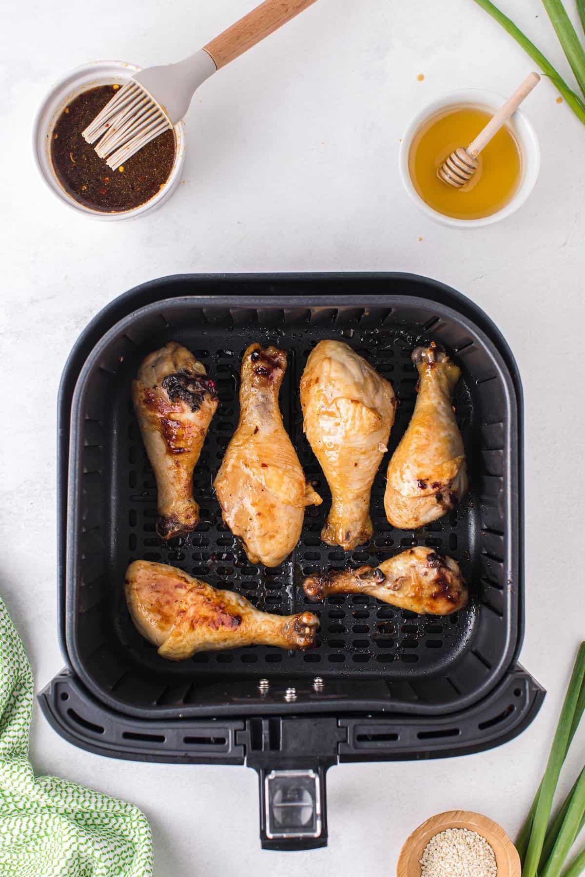 chicken inside air fryer