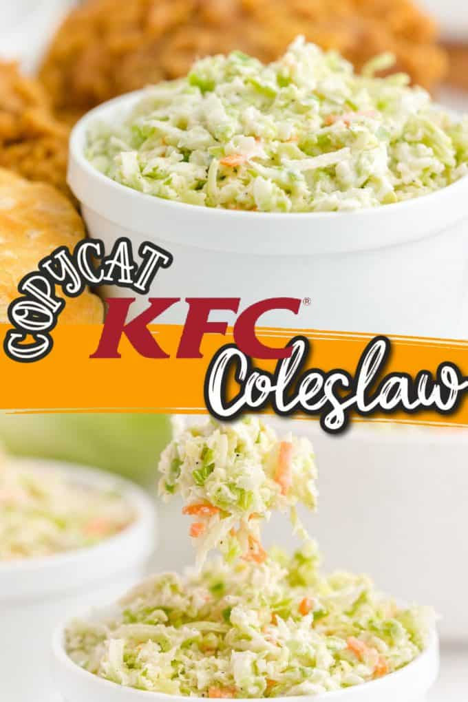 KFC coleslaw pinterest