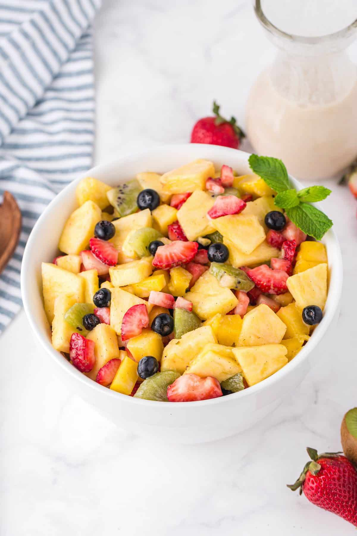 pineapple fruit salad in a bowl