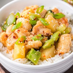 Sweet Chili Pineapple Chicken feature image