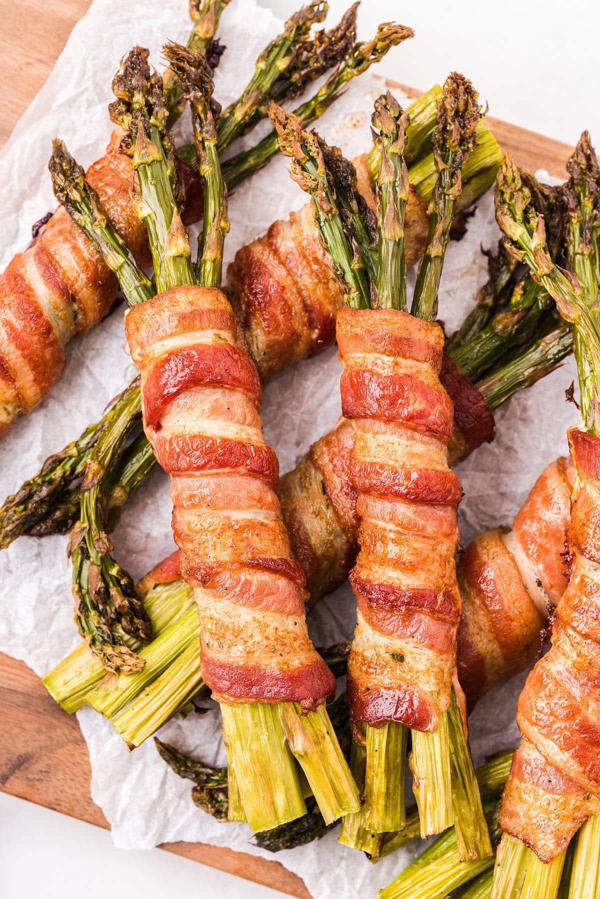 bacon wrapped asparagus hero