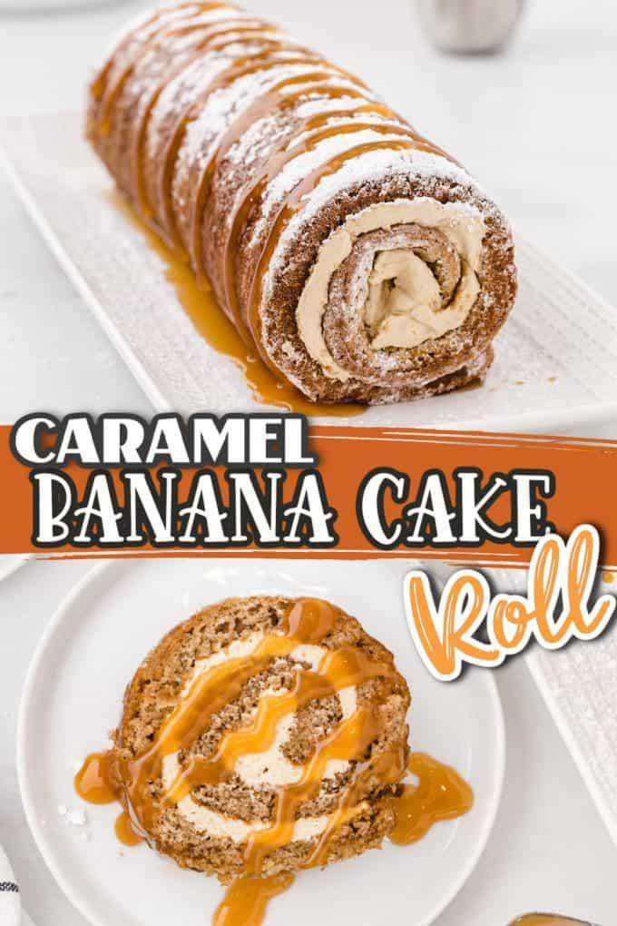 banana cake roll Pinterest