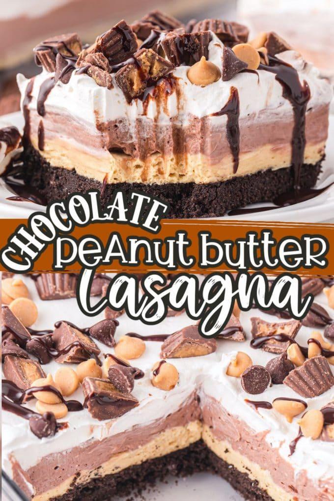 chocolate peanut butter lasagna pinterest