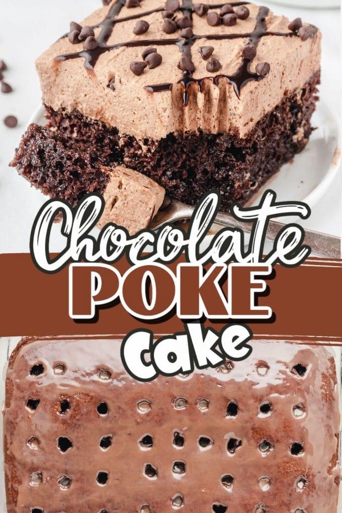 Chocolate Poke Cake Pinterest