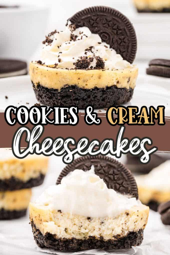 cookies and cream cheesecakes pinterest