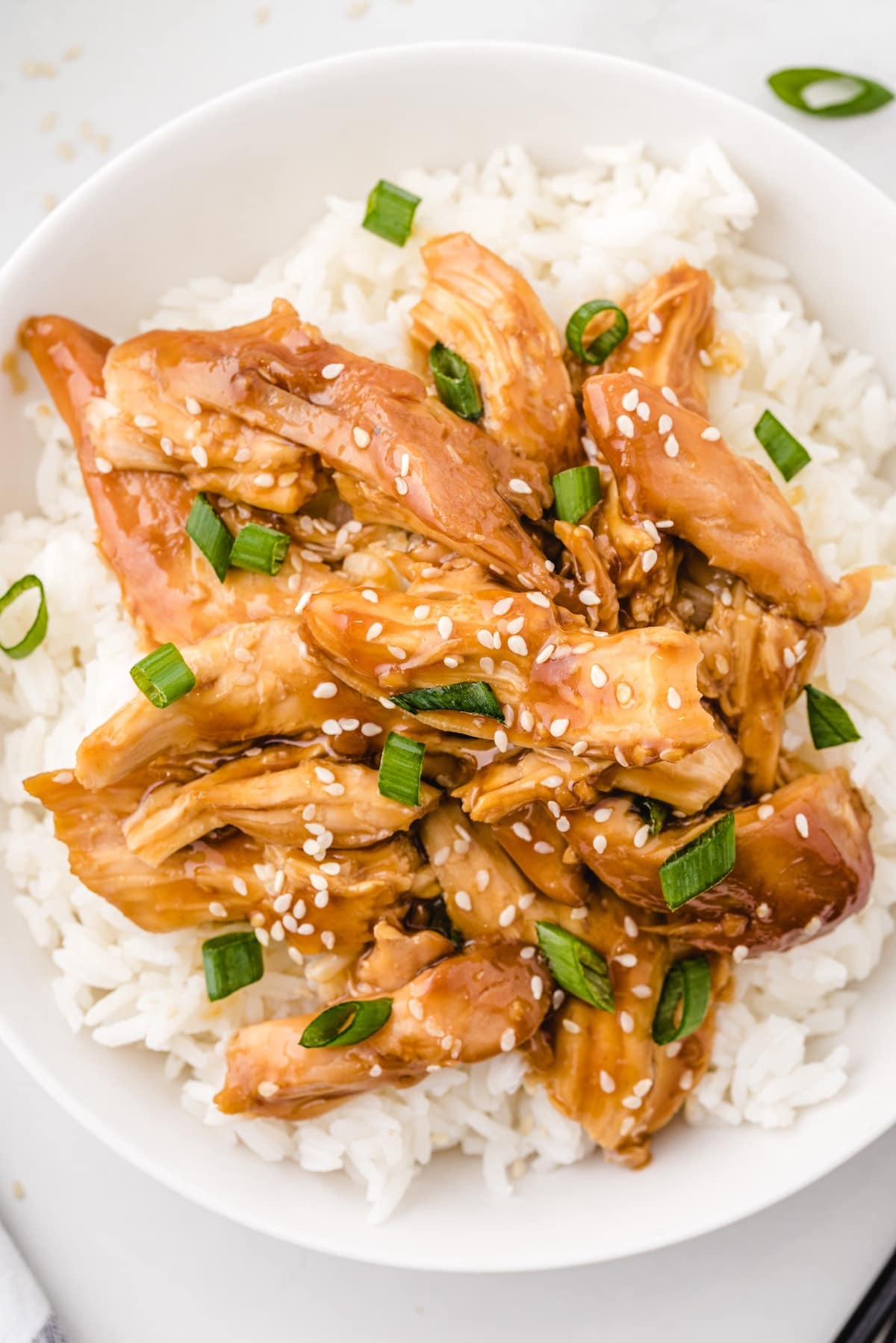 serve teriyaki chicken with rice