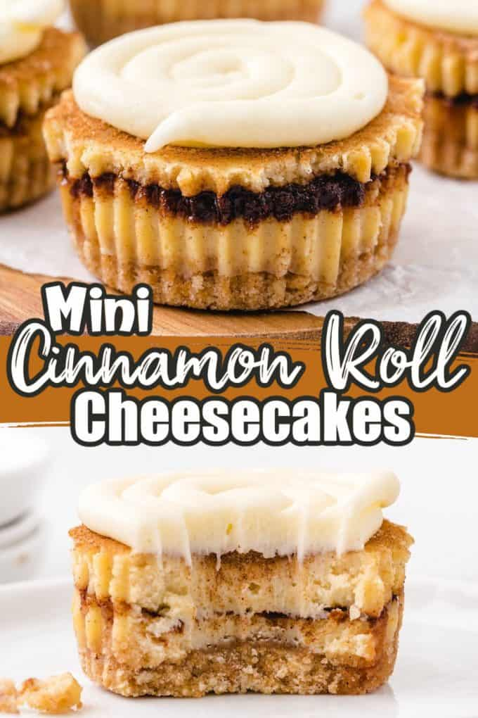 mini cinnamon roll cheesecakes Pinterest