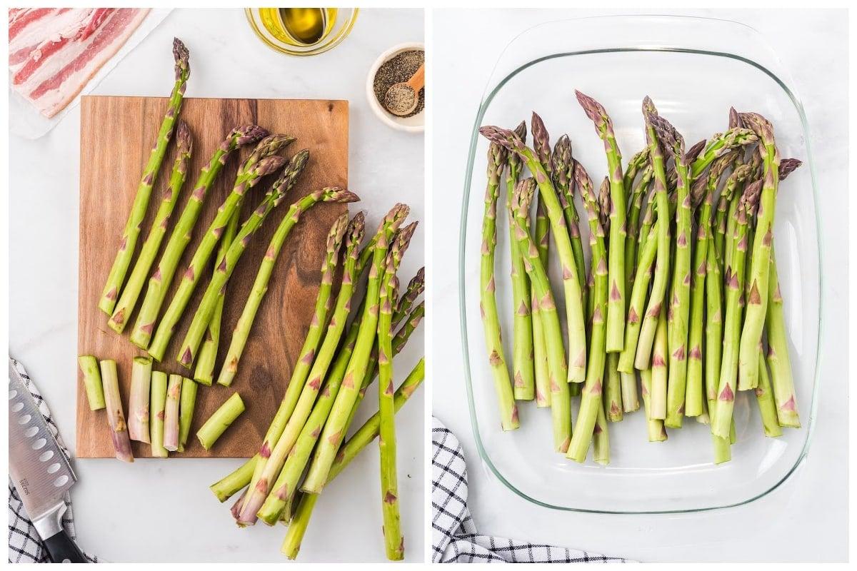 cut the end of asparagus