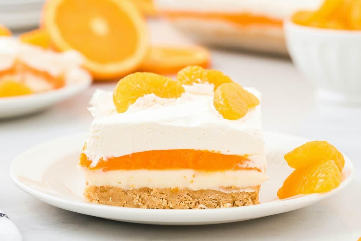 orange creamsicle lush on a plate
