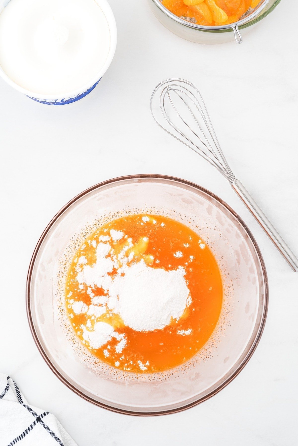 add vanilla pudding mix into the bowl