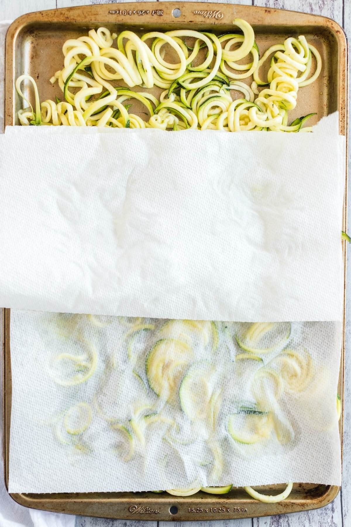 remove moisture with paper towel