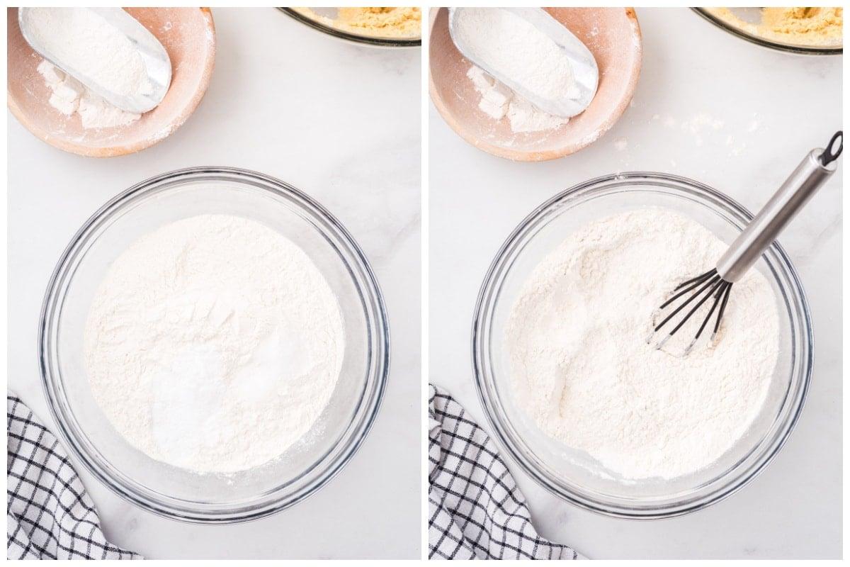 combine the flour, baking soda and salt