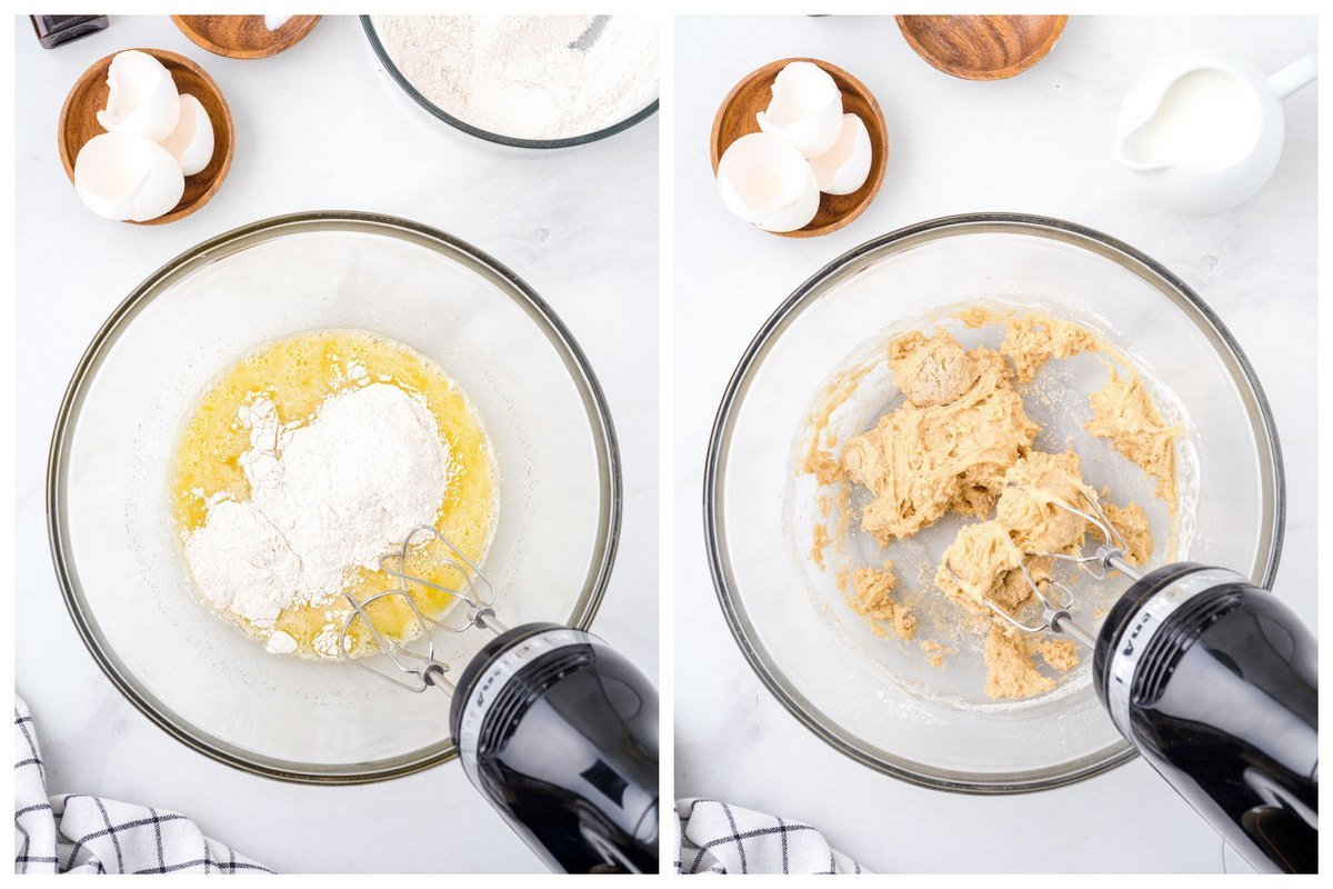 Blend the eggs and granulated sugar