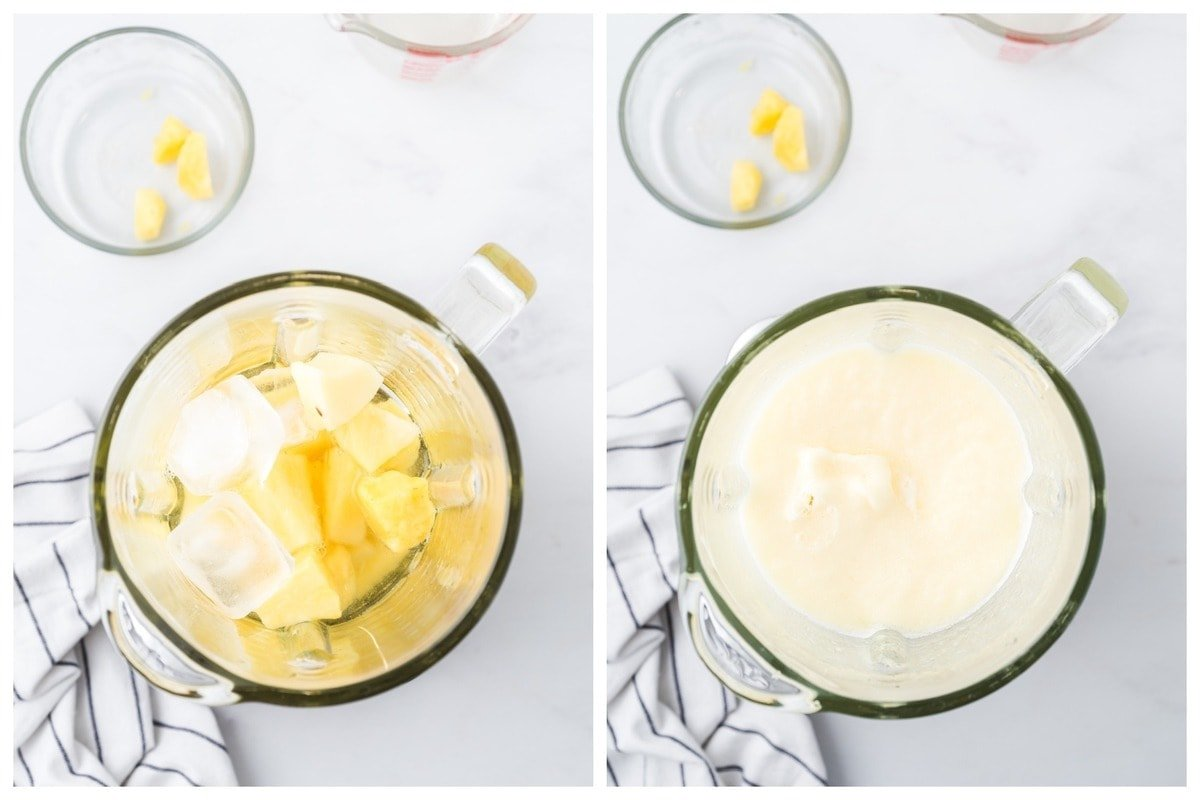 blend the pineapple