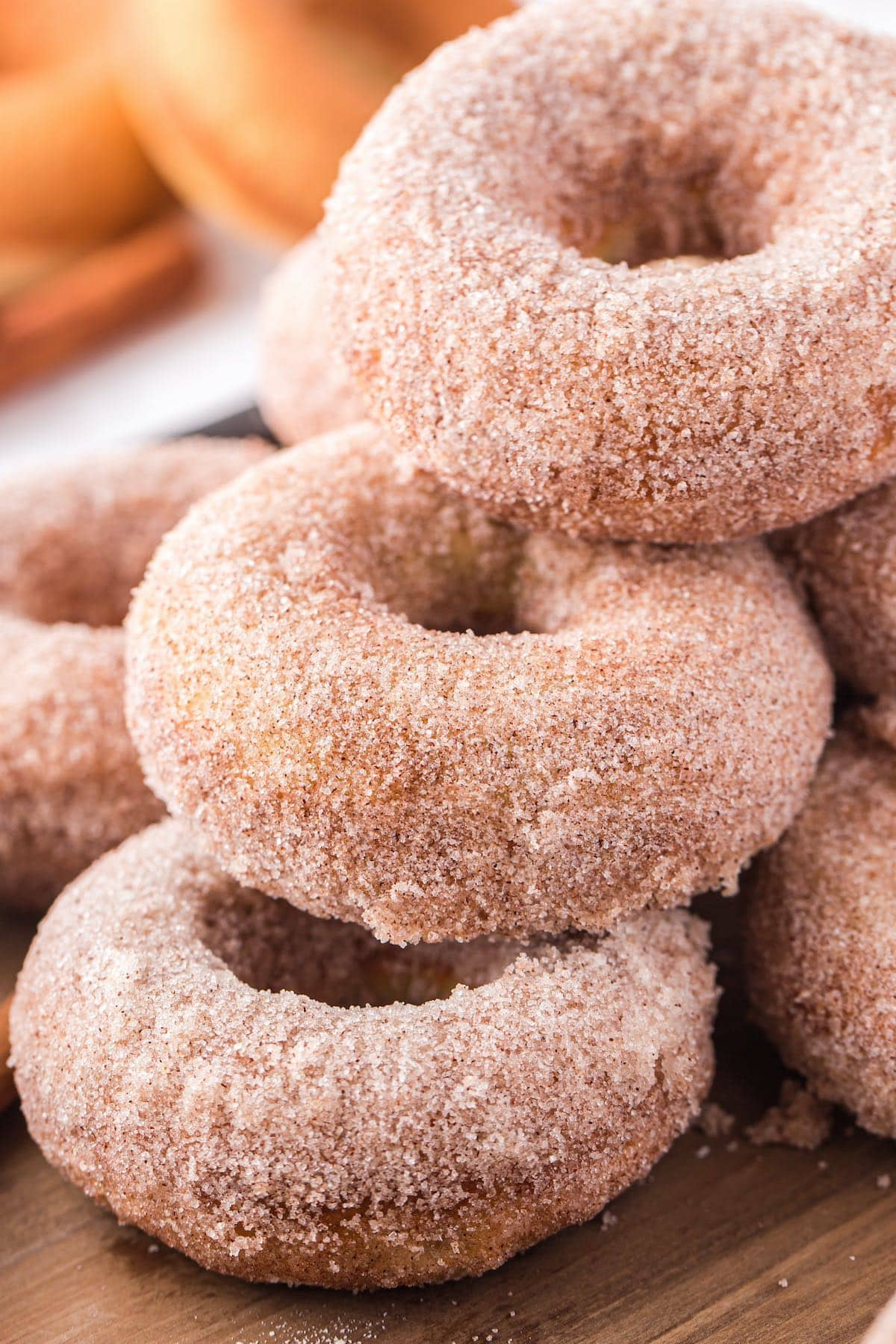 apple sauce donuts stacked