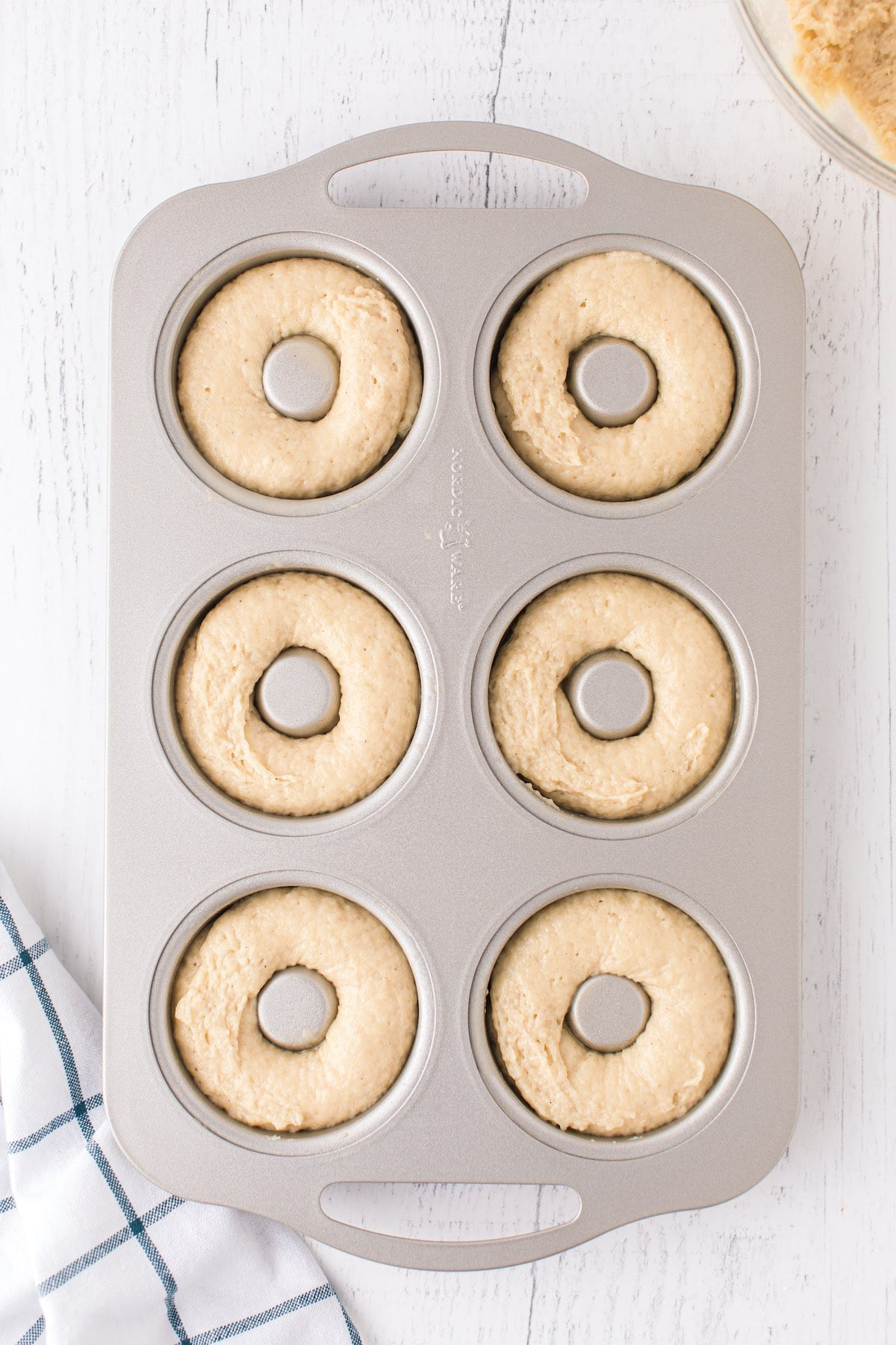 fill donut pans with the batter
