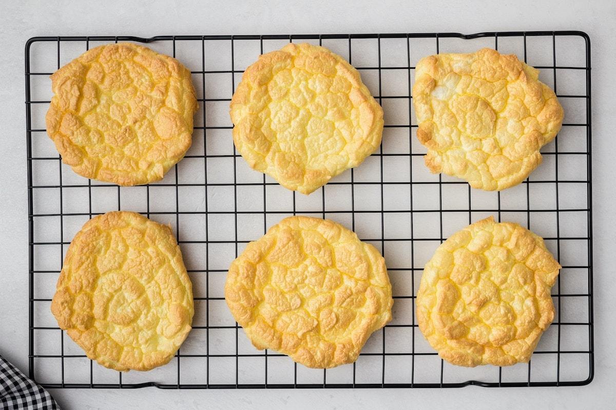 cloud bread in baking tray