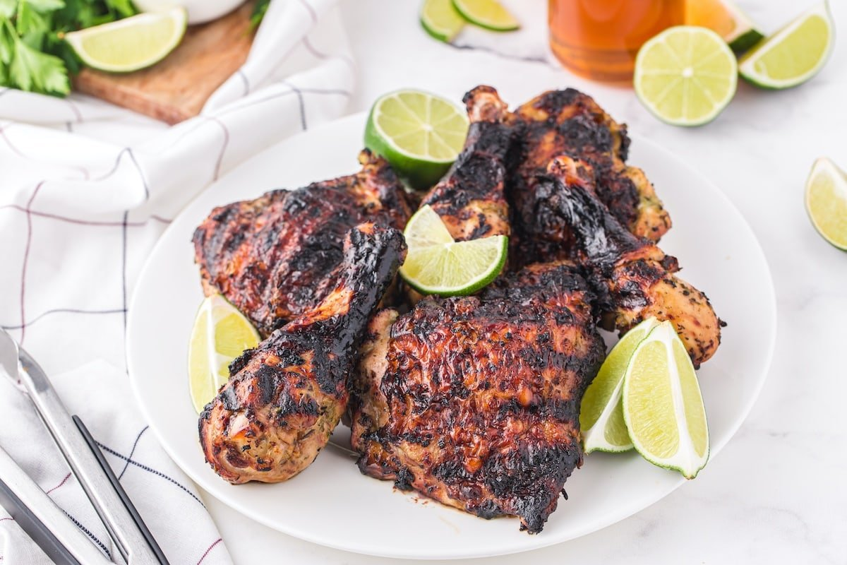 grilled chicken on the plate