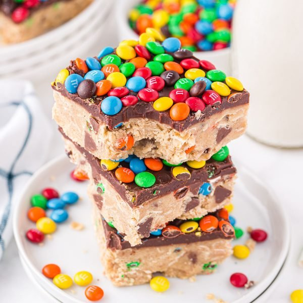 monster cookie dough bars featured image