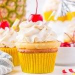 pina colada cupcakes featured image