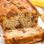 reese's peanut butter banana bread featured image