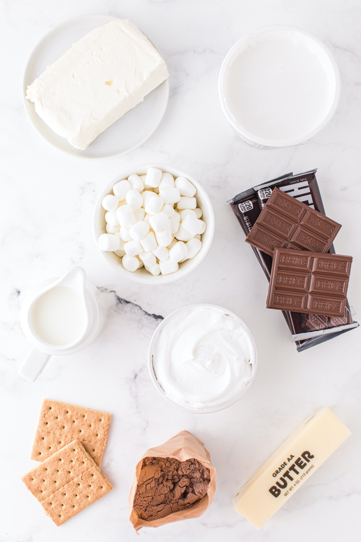ingredients for s'mores trifle