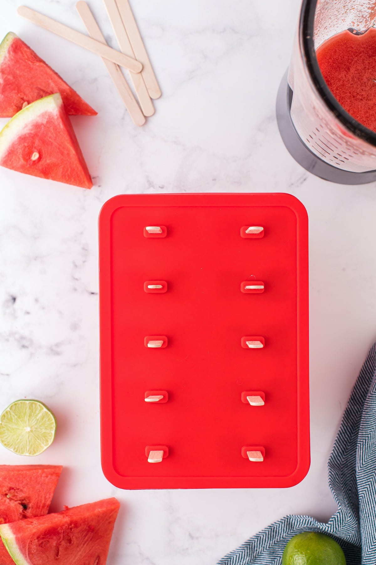 popsicle mold with lid close