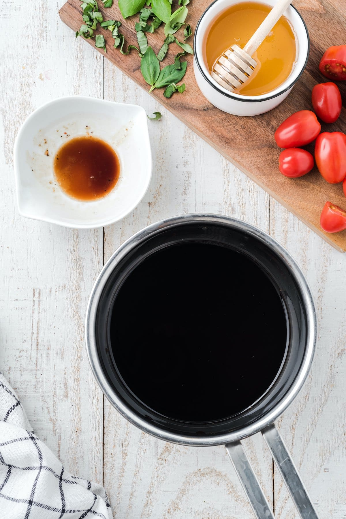 balsamic glaze in a small pan