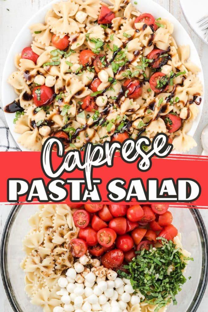 Caprese Pasta Salad pinterest