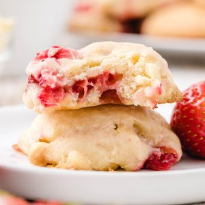 cream cheese strawberry cookies featured image